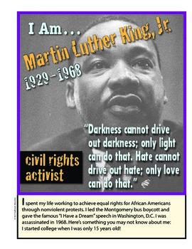 I Am... Martin Luther King, Jr. —MINI POSTER