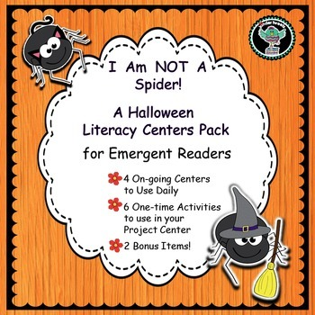 Halloween Spiders   Emergent Reader and Literacy Centers f