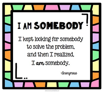 I Am Somebody: Problem poster