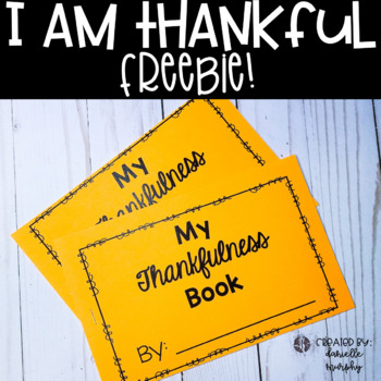 FREE I Am Thankful Writing Book (Thanksgiving)