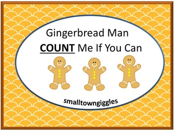 Gingerbread Math Counting Craftivity Christmas Cut and Pas