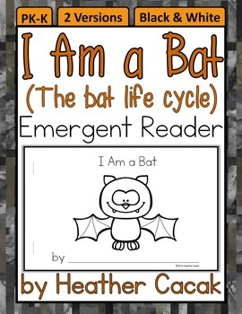 I Am a Bat Life Cycle Emergent Reader Mini Book (Science &