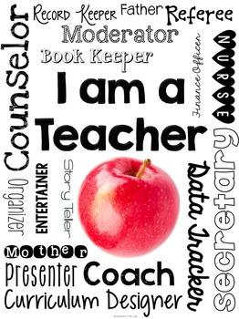 Subway Art ~ I Am a Teacher Printable
