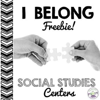 I Belong FREEBIE- 1 week of centers