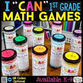 1st Grade Math Centers - 1st Grade Math Games BUNDLE for A