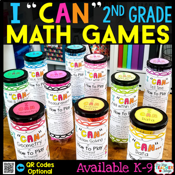 2nd Grade Math Centers - 2nd Grade Math Games BUNDLE for ALL STANDARDS