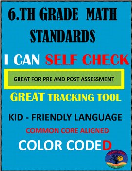 I CAN 6TH GRADE MATH STANDARDS TRACKING TOOL