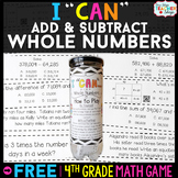 4th Grade Addition and Subtraction Game - 4th Grade Math G