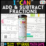 4th Grade Adding & Subtracting Fractions Game - 4th Grade