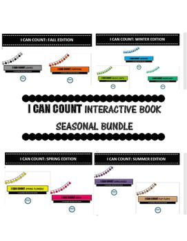 I CAN COUNT INTERACTIVE BOOKS- SEASONAL BUNDLE