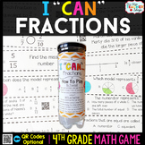 4th Grade Fractions Game - 4th Grade Math Game for Math Centers