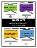 I CAN...Math Equations INTERACTIVE FLIPBOOK BUNDLE (32 FLI