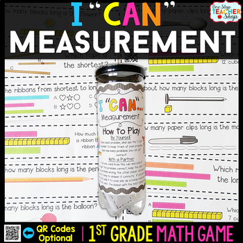 1st Grade Measurement Game - 1st Grade Math Game for Math Centers