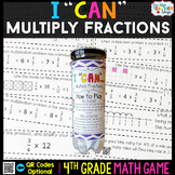 4th Grade Multiplying Fractions Game - 4th Grade Math Game