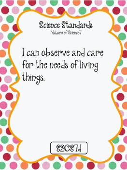 """I CAN"" POSTERS 2ND GRADE SCIENCE - GEORGIA PERFORMANCE STANDARDS"