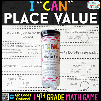 4th Grade Place Value Game - 4th Grade Math Game for Math Centers