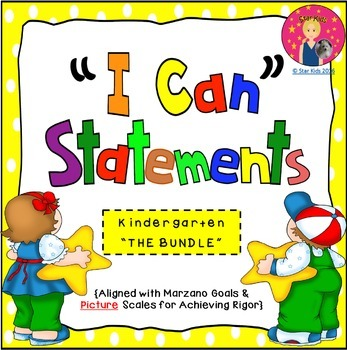 I CAN STATEMENTS - THE BUNDLE {KINDERGARTEN}