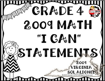 I CAN STATEMENTS VIRGINIA SOL MATH GRADE 4