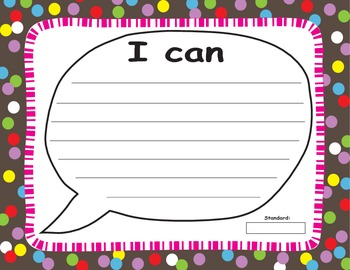 I CAN Statement Write-on Wipe-off Poster