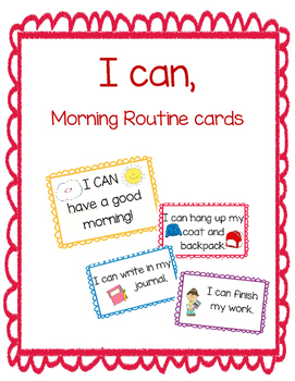 I CAN morning routine cards