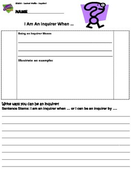 I Can Be An Inquirer By .. Organizer
