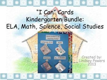 """""""I Can"""" Cards for Kindergarten Bundle"""