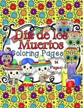 I Can Color {Dia de los Muertos} Coloring Sheets