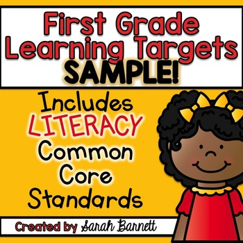 I Can Common Core Focus Wall - First Grade LITERACY SAMPLE