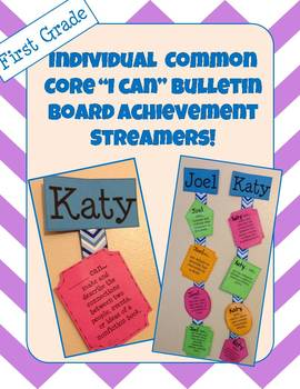 """""""I Can"""" First Grade Common Core (Reading) Streamers"""