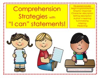 "I Can Comprehend! - Comprehension Packet with ""I Can"" statements"