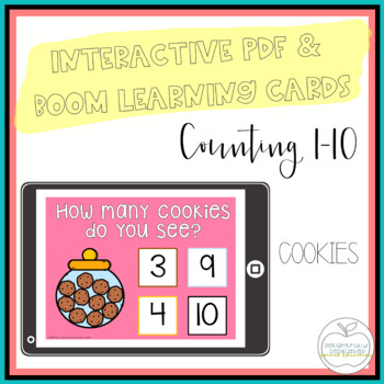 I Can Count Cookies Interactive PDF Counting Activity for
