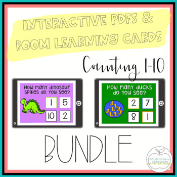 I Can Count Interactive PDF Counting Activities BUNDLE  fo