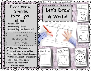 I Can Draw and Write to Represent Ideas: Let's Draw Series