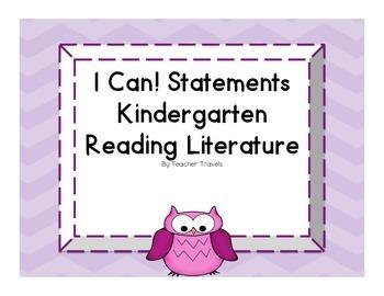 I Can! ELA Kindergarten Reading Literature Colorful Owl Theme