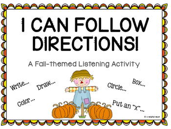 I Can Follow Directions! A Fall-themed Listening Activity