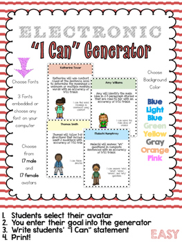 I Can Generator - Easily Make & Customize your Students' ""