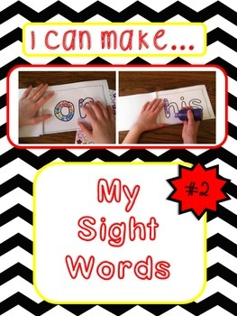 """I Can Make...My Sight Words""; Multi-sensory Instruction; Book 2"