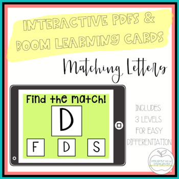 I Can Match Letters: 3 Interactive PDFs for Special Educat