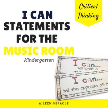 """""""I Can"""" Music Statements {Kindergarten}"""