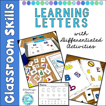 Letter Recognition Activities for Beginners:  I Can Name Letters