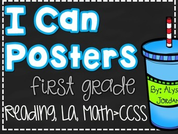 I Can Posters- First Grade CCSS