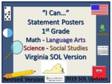 I Can...Posters for VA SOL's 1st Grade