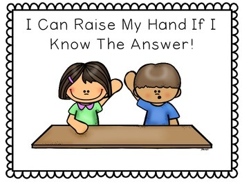 I Can Raise My Hand -- Social Story (with comprehension qu