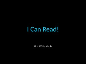 I Can Read! First 100 Fry Words