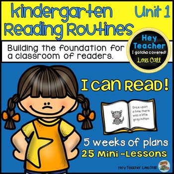 Kindergarten Reader's Workshop Unit 1 {25 Mini Lessons}
