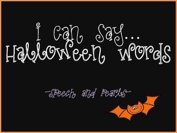 I Can Say...Halloween Words