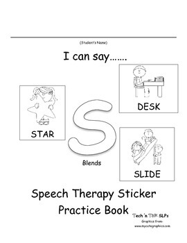 I Can Say.....   Speech Therapy Sticker Practice Book for