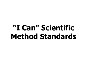 I Can Science Standards for 6th Grade
