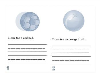 I Can See - A Sight Word/Color/Activity Book