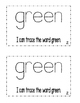 """Interactive Color Word Reader -""""I Can See GREEN"""""""